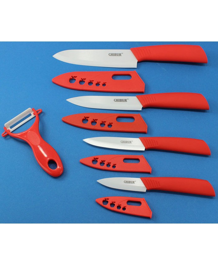 Набор керамических ножей CHIBUR (красный) (NK101-00-03)