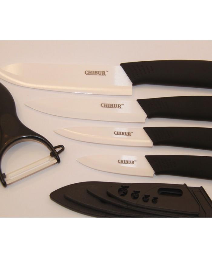 Набор керамических ножей CHIBUR (черный) (NK101-00-01)